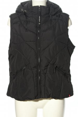edc by Esprit Hooded Vest black quilting pattern casual look
