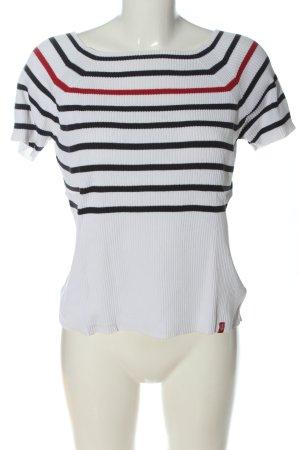 edc by Esprit Prążkowana koszulka Wzór w paski W stylu casual