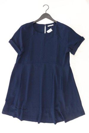 edc by Esprit Kurzarmkleid Größe 40 blau aus Polyester