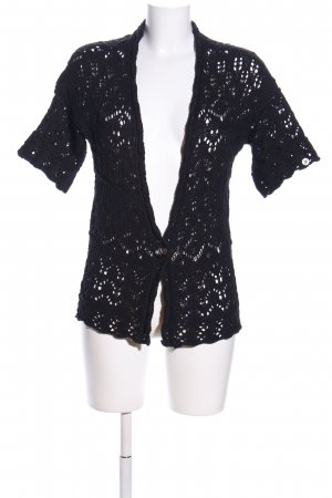 edc by Esprit Short Sleeve Knitted Jacket black casual look