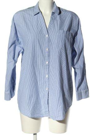 edc by Esprit Chemise à manches longues bleu-blanc motif rayé