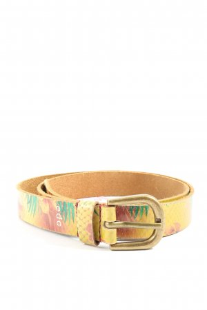 edc by Esprit Leather Belt primrose-brown allover print casual look