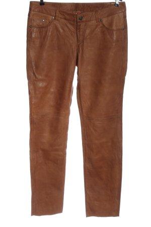 edc by Esprit Leren broek bruin casual uitstraling