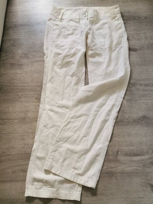 edc by Esprit Pantalon cinq poches blanc cassé lin