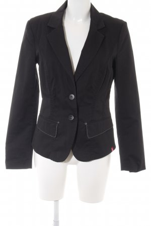 edc by Esprit Long-Blazer schwarz Business-Look