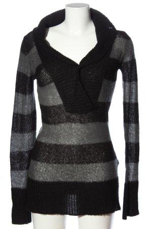edc by Esprit Maglione lungo nero-grigio chiaro motivo a righe stile casual