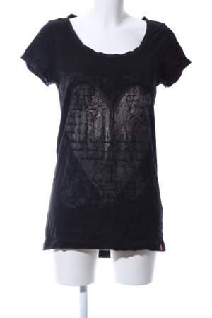 edc by Esprit Haut long noir-argenté imprimé avec thème style décontracté