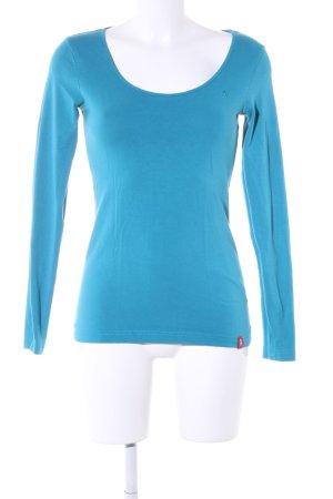 edc by Esprit Longsleeve blau Casual-Look