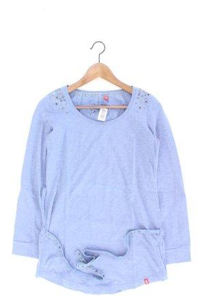 edc by Esprit Longsleeve-Shirt Größe S mit Gürtel Langarm mit Nieten blau aus Baumwolle