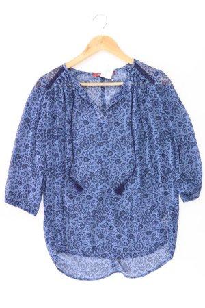 edc by Esprit Oversized Blouse blue-neon blue-dark blue-azure polyester