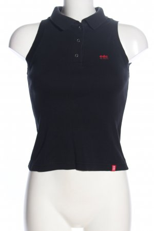 edc by Esprit Polo Top schwarz Casual-Look