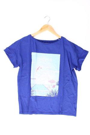edc by Esprit Printshirt Größe M Kurzarm blau aus Baumwolle