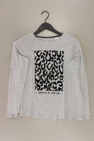 edc by Esprit Printshirt Größe M mit Tierdruck Langarm grau