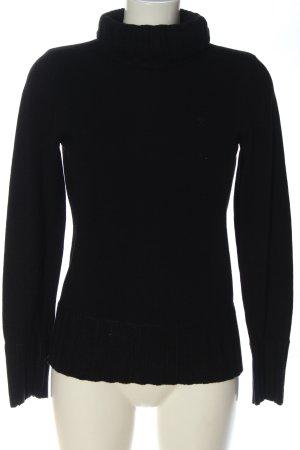edc by Esprit Jersey de cuello alto negro look casual