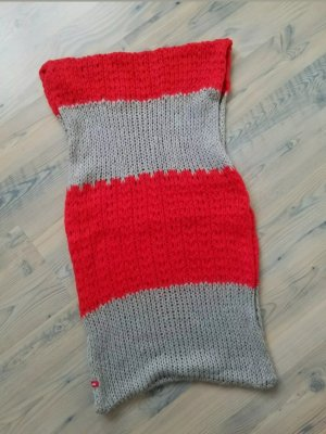 Woolen Scarf grey-red