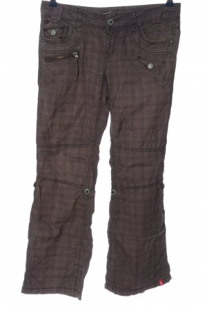 edc by Esprit Schlaghose lila-braun Karomuster Casual-Look