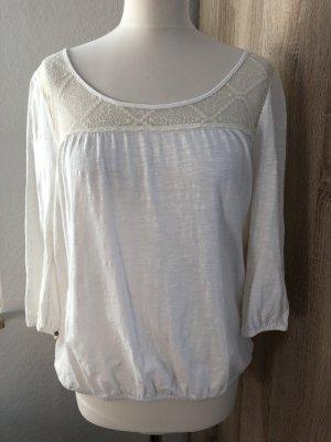edc by Esprit Koszula typu carmen w kolorze białej wełny-kremowy