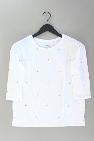 edc by Esprit Shirt Größe M 3/4 Ärmel weiß aus Baumwolle