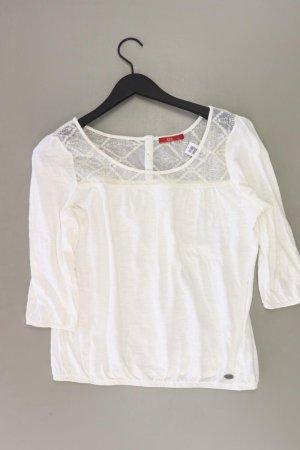 edc by Esprit Shirt Größe S 3/4 Ärmel weiß aus Baumwolle