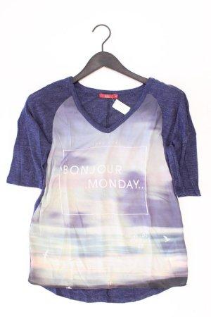 edc by Esprit Shirt mit V-Ausschnitt Größe XS Kurzarm blau aus Polyester