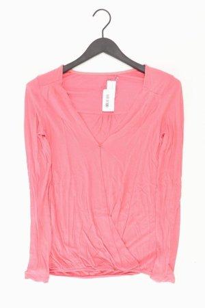 edc by Esprit Shirt mit V-Ausschnitt Größe XS Langarm pink aus Viskose