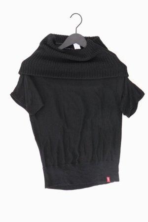 edc by Esprit Shirt mit Wollkragen Größe S Kurzarm schwarz