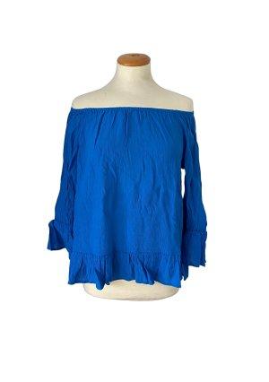 EDC by Esprit, Shirtbluse, Carmenbluse, blau, Gr S, neu