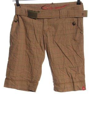 edc by Esprit Shorts braun Karomuster Casual-Look