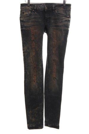edc by Esprit Skinny Jeans blau-braun Casual-Look