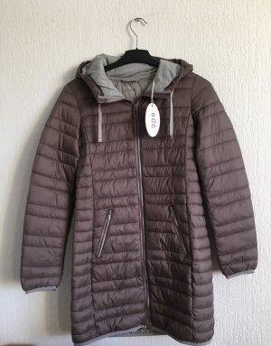 edc by Esprit Gewatteerde jas grijs-bruin