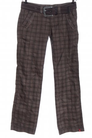 edc by Esprit Pantalone jersey grigio chiaro-nero motivo a quadri stile casual