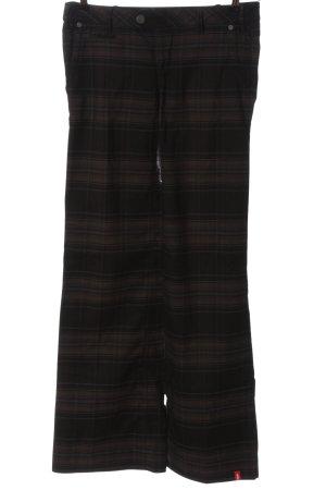 edc by Esprit Pantalone jersey nero-marrone motivo a quadri stile casual