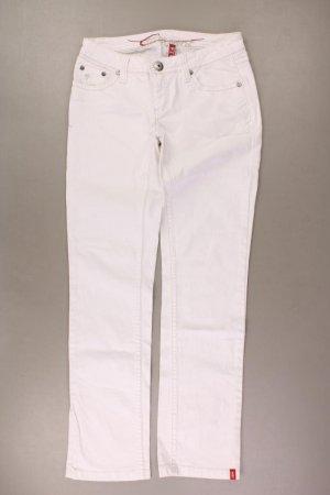 edc by Esprit Straight Jeans Größe Kurzgröße 27 weiß