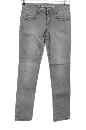 edc by Esprit Jeansy z prostymi nogawkami jasnoszary Melanżowy W stylu casual