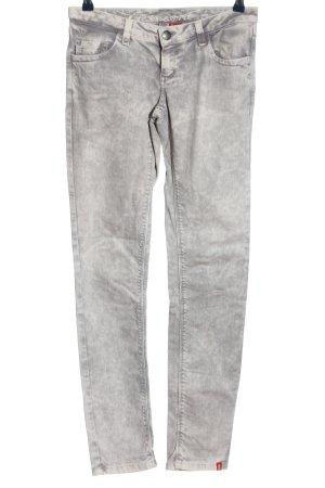 edc by Esprit Jeansy z prostymi nogawkami biały-jasnoszary Abstrakcyjny wzór