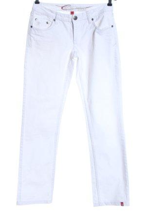 edc by Esprit Jeansy z prostymi nogawkami biały W stylu casual