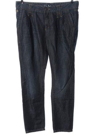 edc by Esprit Jeansy z prostymi nogawkami niebieski Wzór w paski W stylu casual