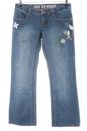 edc by Esprit Straight-Leg Jeans Blumenmuster Casual-Look