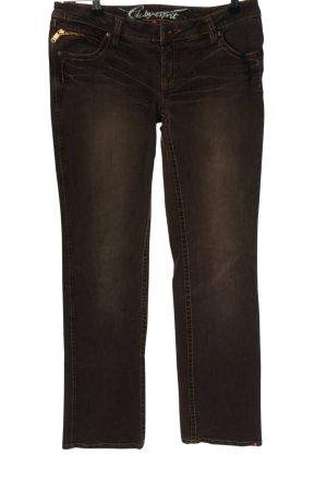 edc by Esprit Jeansy z prostymi nogawkami brązowy W stylu casual
