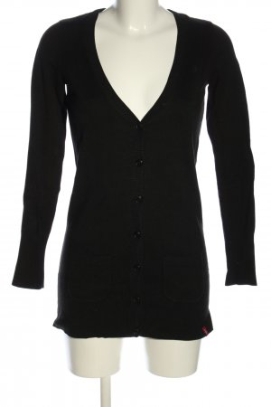 edc by Esprit Strick Cardigan schwarz Casual-Look