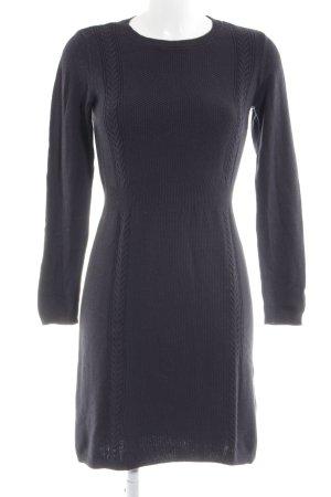 edc by Esprit Gebreide jurk zwart kabel steek casual uitstraling
