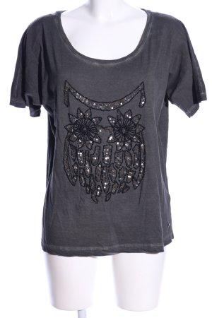edc by Esprit T-Shirt hellgrau-silberfarben meliert Casual-Look