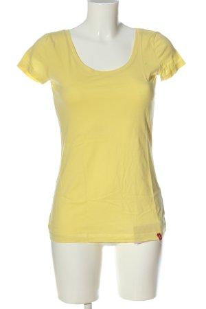 edc by Esprit T-Shirt blassgelb Casual-Look