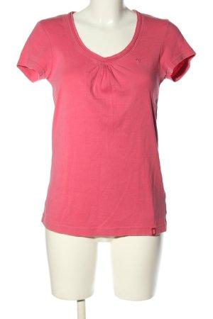 edc by Esprit T-Shirt pink Schriftzug gestickt Casual-Look
