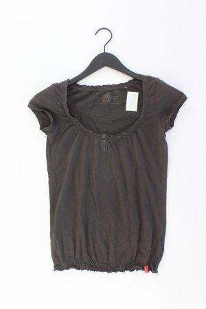 edc by Esprit T-Shirt Größe XS Kurzarm braun aus Baumwolle