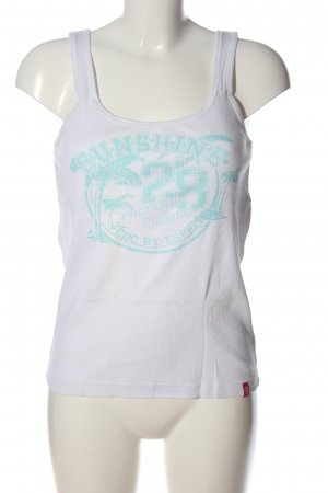 edc by Esprit Tank Top white themed print casual look