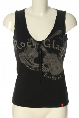 edc by Esprit Tank Top black themed print casual look