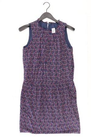 edc by Esprit Trägerkleid Größe 42 mit Blumenmuster Ärmellos blau aus Viskose