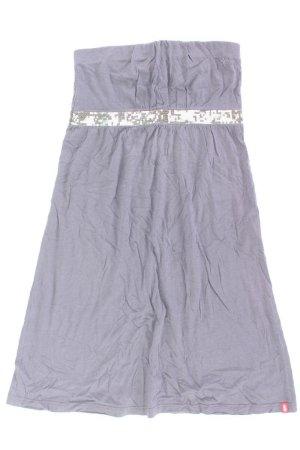 edc by Esprit trägerloses Kleid Größe S Ärmellos mit Pailletten grau aus Baumwolle