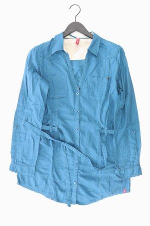 edc by Esprit Tunika mit Gürtel Größe XL blau aus Baumwolle